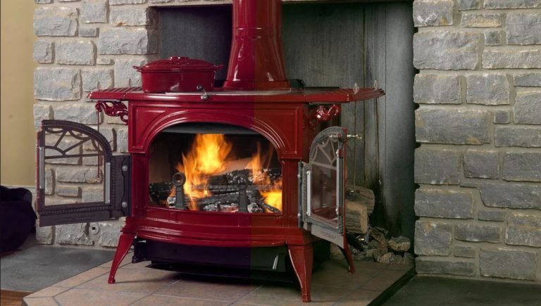Retro Fireplace That Will Surprise You See More Incredible Retro Vintage Fireplaces On Our S Vermont Castings Wood Stove Wood Stove Free Standing Wood Stove