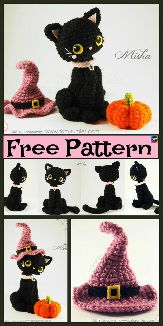 Häkeln Sie Amigurumi Black Cat - kostenlose Anleitungen, #amigurumi #anleitungen #black #Cat ... #crochetamigurumi