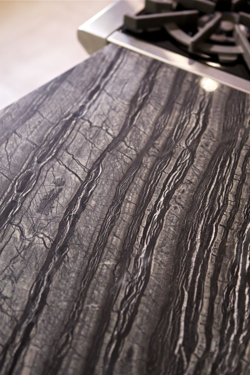 Kenya Black marble offers a vivid and fascinating veining