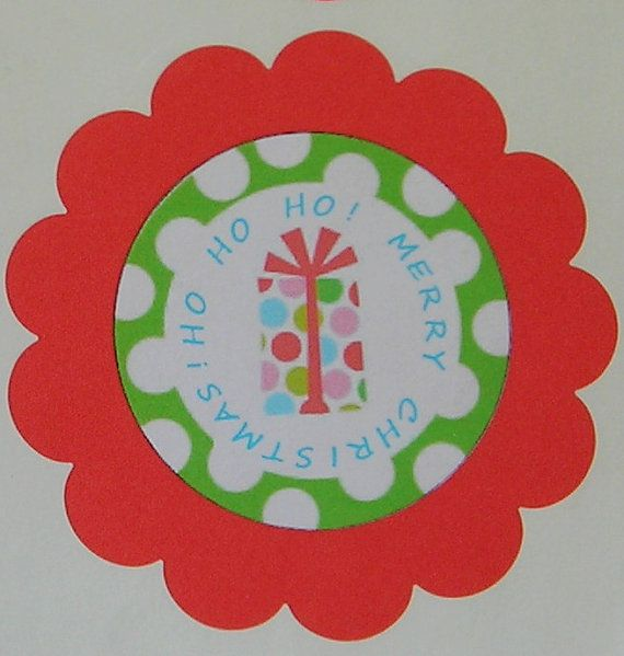 20 Personalized Holiday Labels Christmas by WrapupthePartyShop, $7.00
