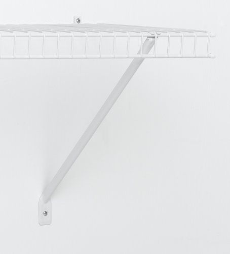ClosetMaid 16 Inch Shelf Support Brackets, White, 12 Pack #1776 By