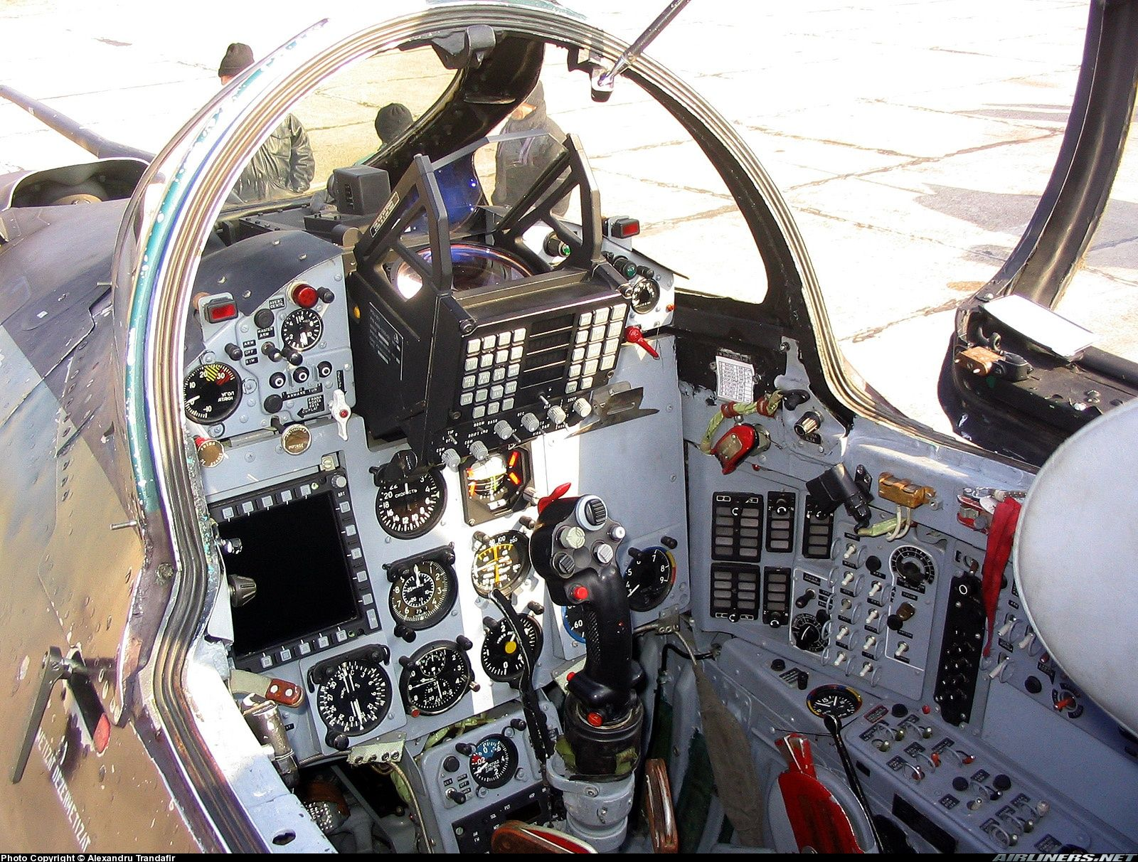Cockpit Of Romanian Air Force Mig 21 Lancer A The Upgraded
