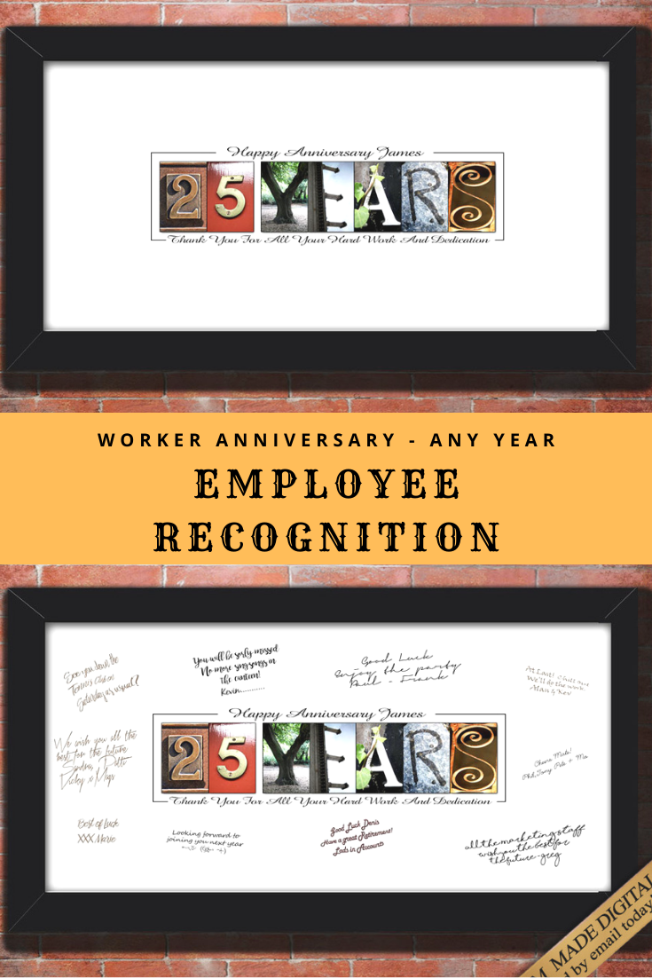 For Employee Recognition Gifts For Boss Lady Gift, Staff Appreciation Card, Employee thank you gift for Service, any Year, any Name #birthdayquotesforboss
