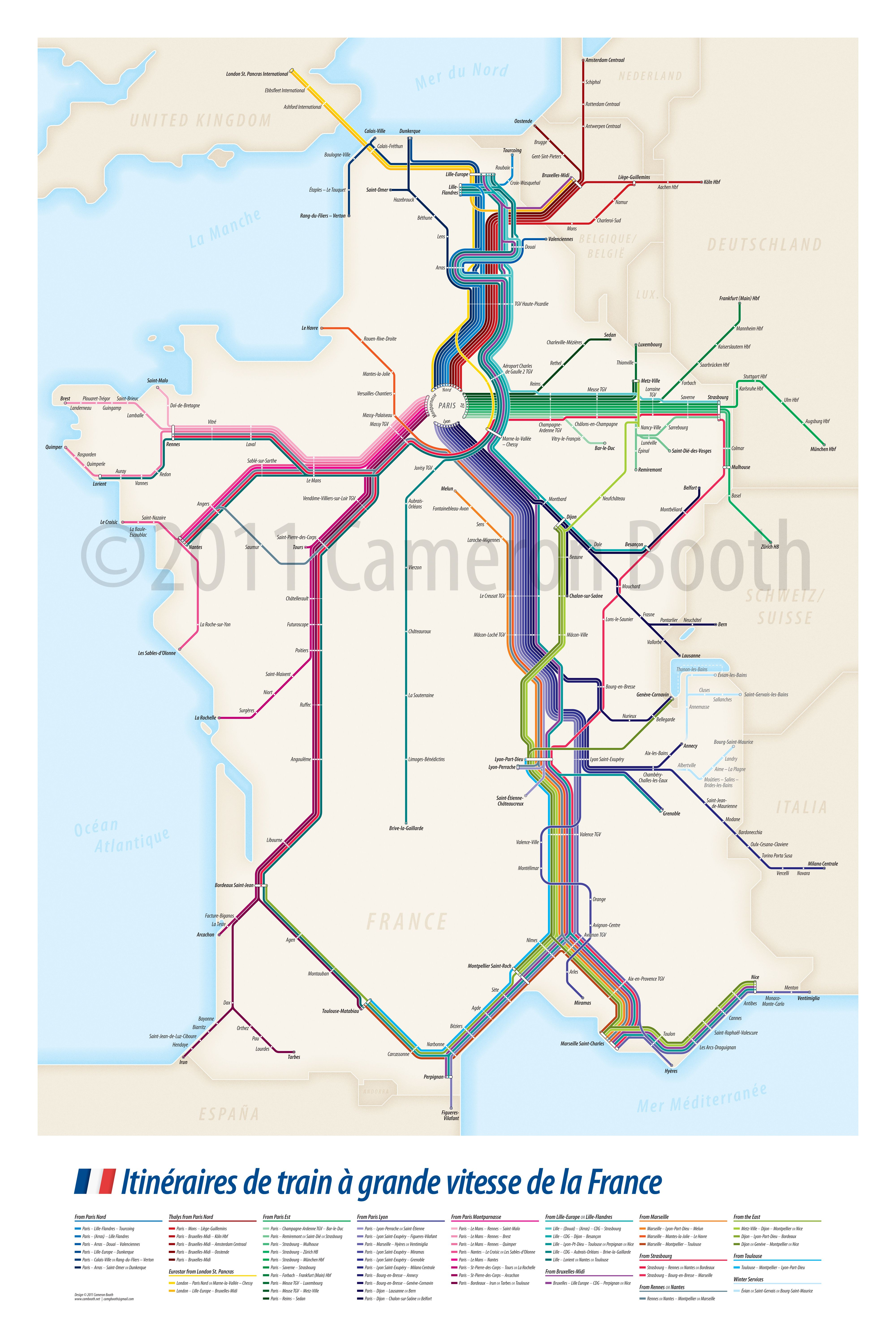 All The High Speed Train Routes That Pass Through France Train