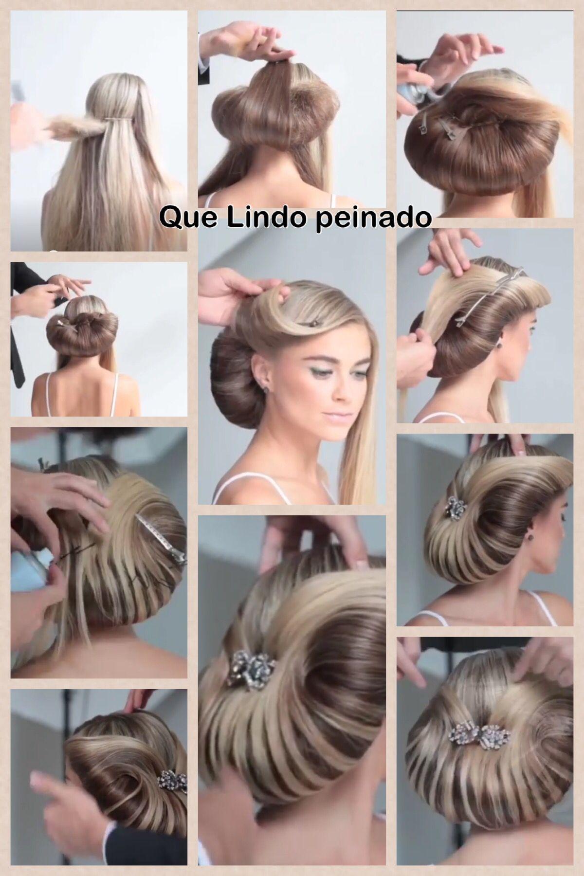 Que bonito peinado Areglos de pelo Pinterest