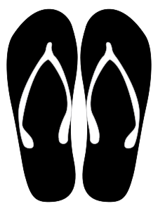Sandalias Clip Art Black And White Flip Flops Clipart Black And White