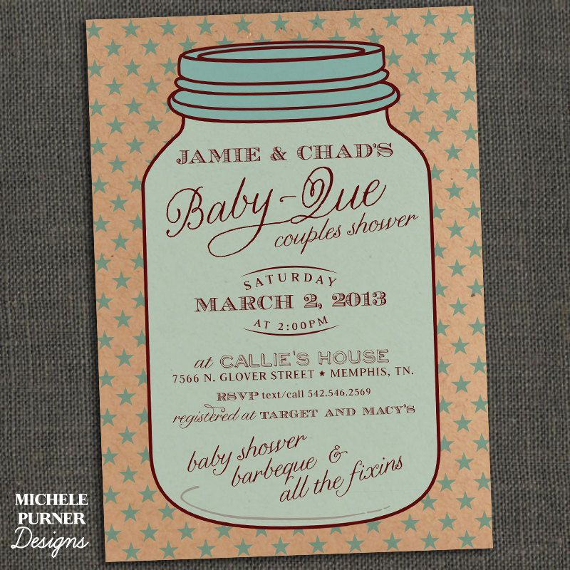 Mason Jar Baby Shower Ideas | MASON JAR - Country Style Baby Shower ...