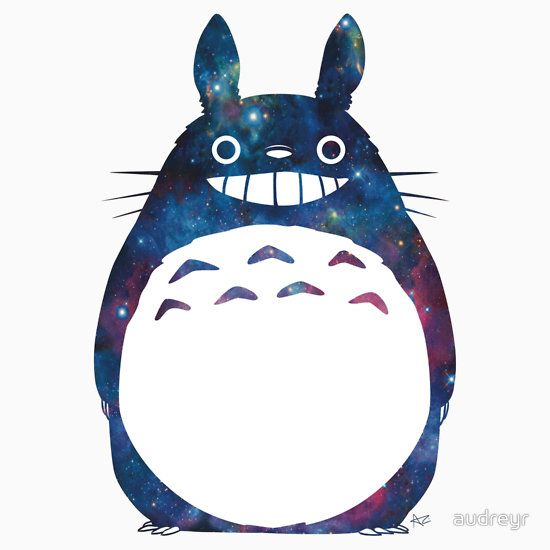 Galaxy Neighbor Fitted Scoop TShirt in 2020 Totoro