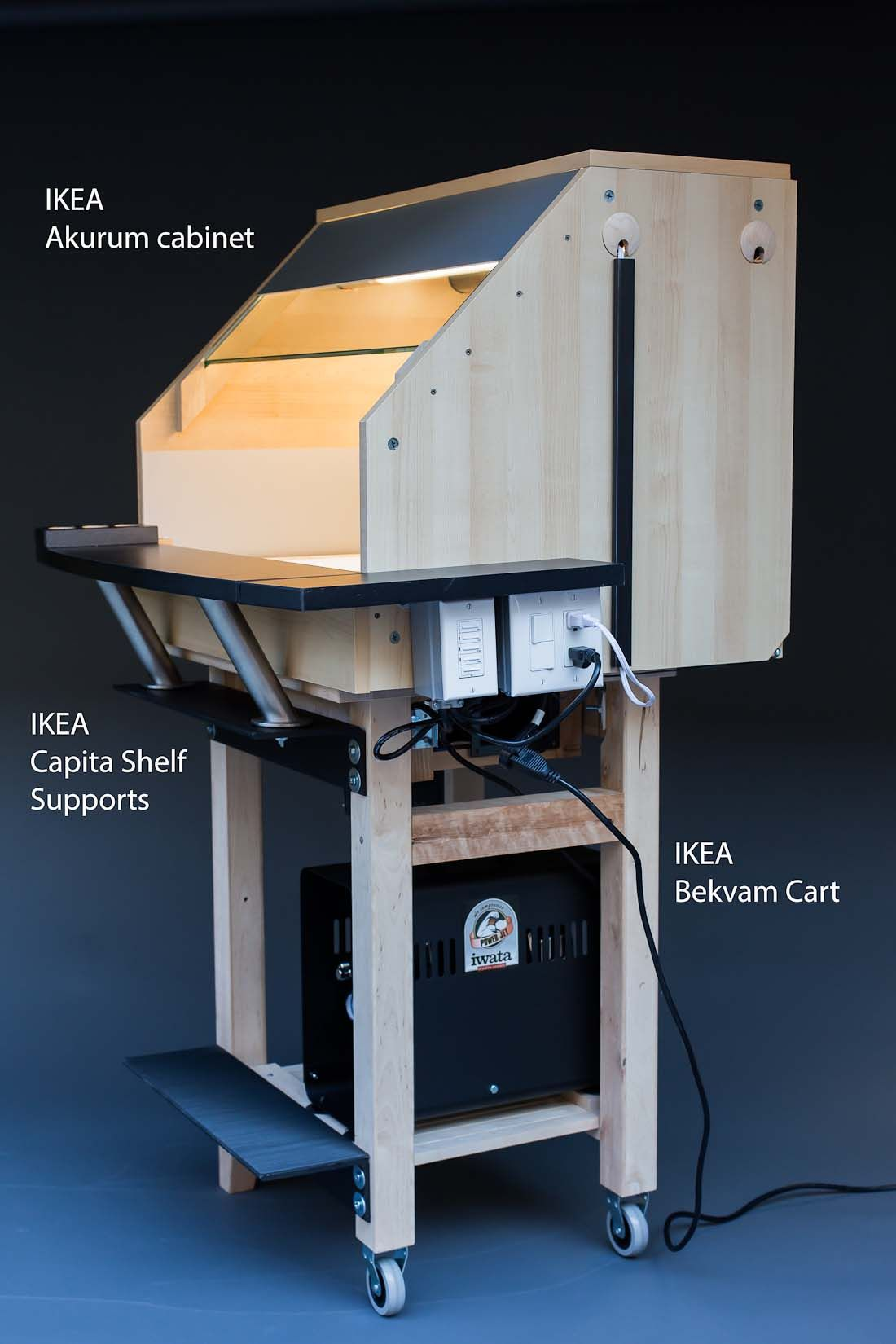 Model Spray Booth From Ikea Parts Modeling Stuff