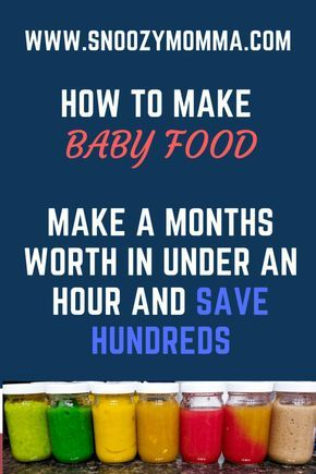 How to make homemade baby food and save hundreds