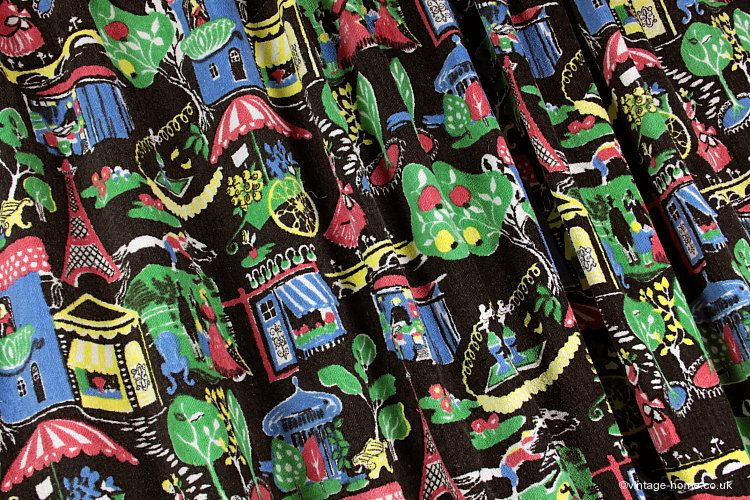 Vintage Home - 1950s Parisienne Towelling Fabric: www ...