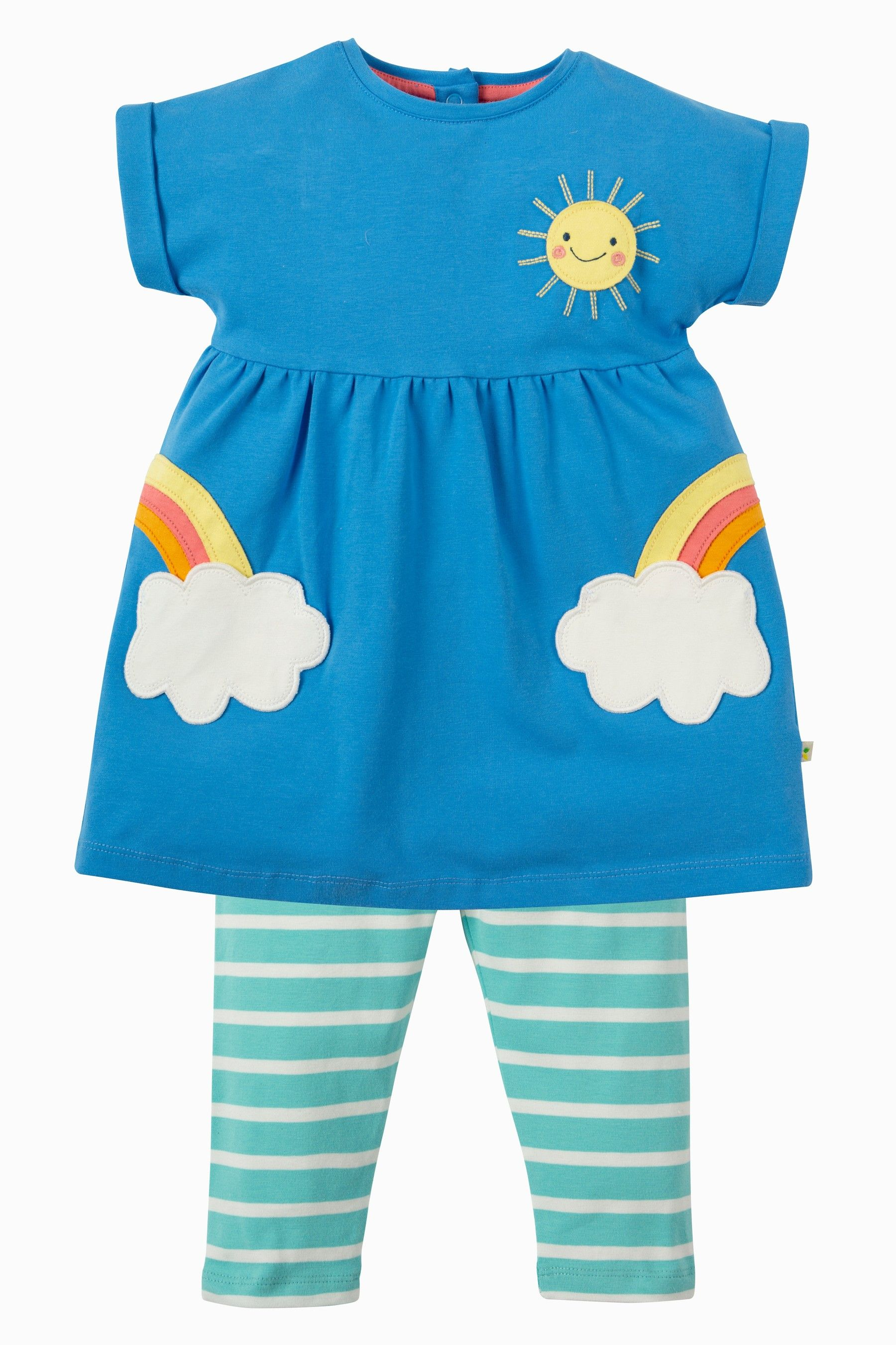 Buy Frugi Organic Rainbow Tunic And Leggings Set from Next ...