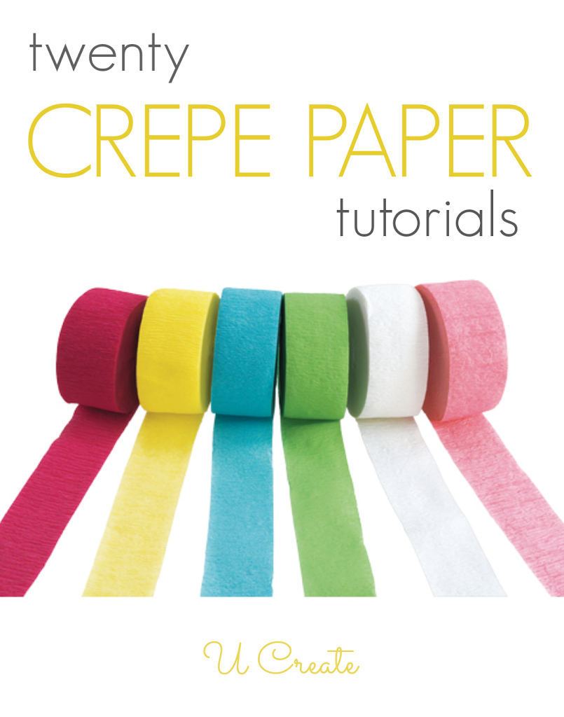I love the many things you can do with inexpensive crepe paper! I buy mine