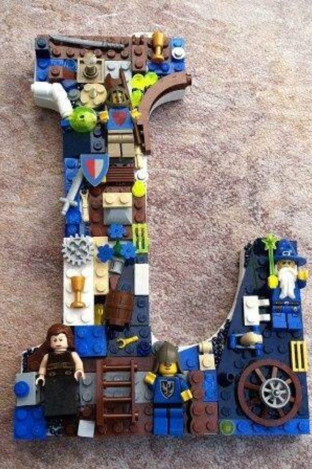 Lego letter for boys room