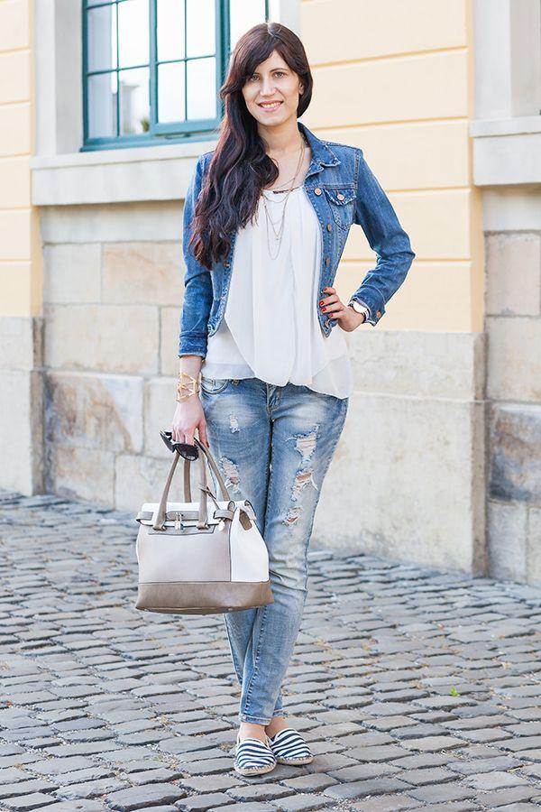 Jeansjacke und jeanshose kombinieren