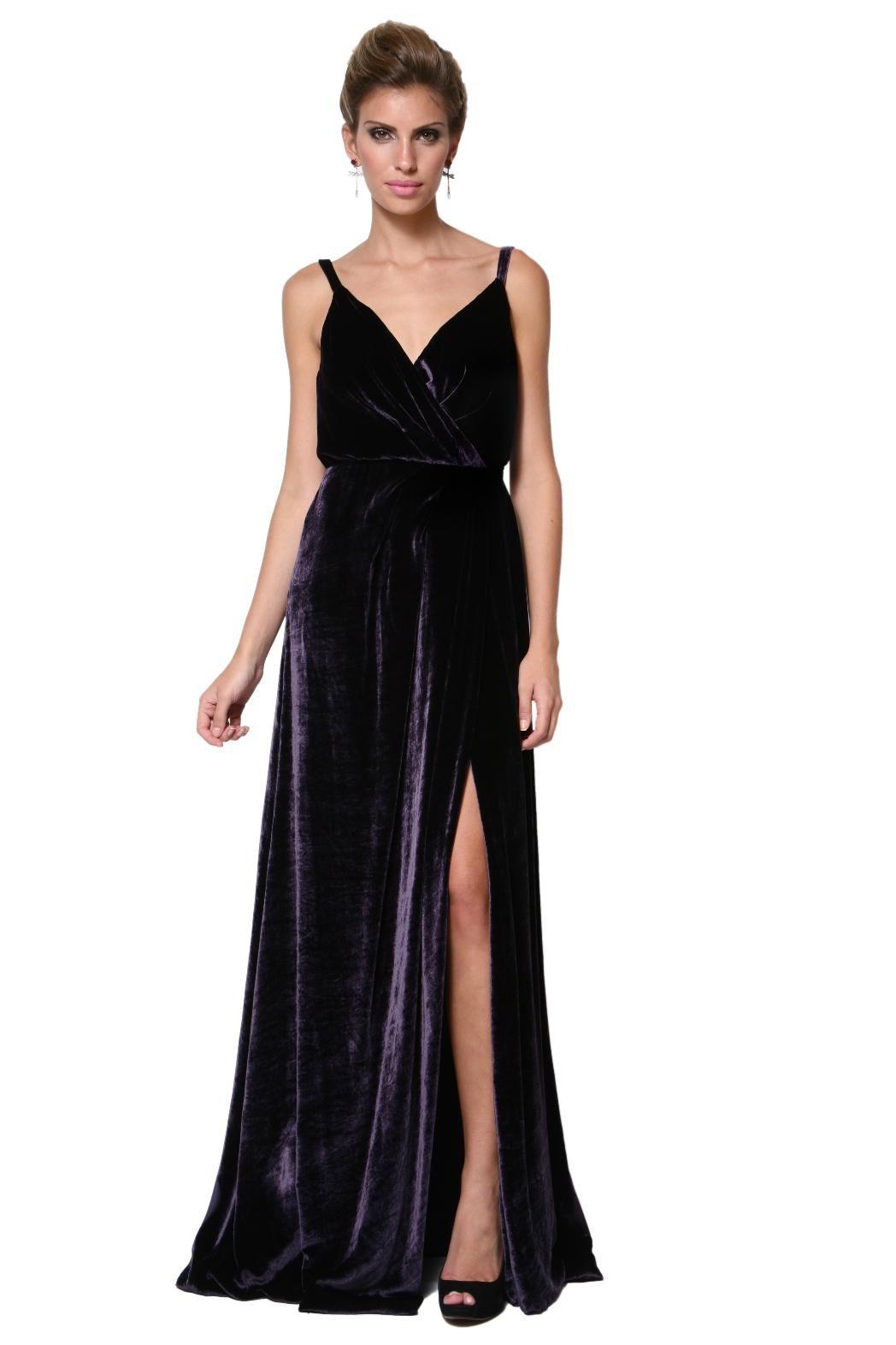 0bd5aef731 Vestido Longo Veludo Seda - Huis Clos - Dress   Go