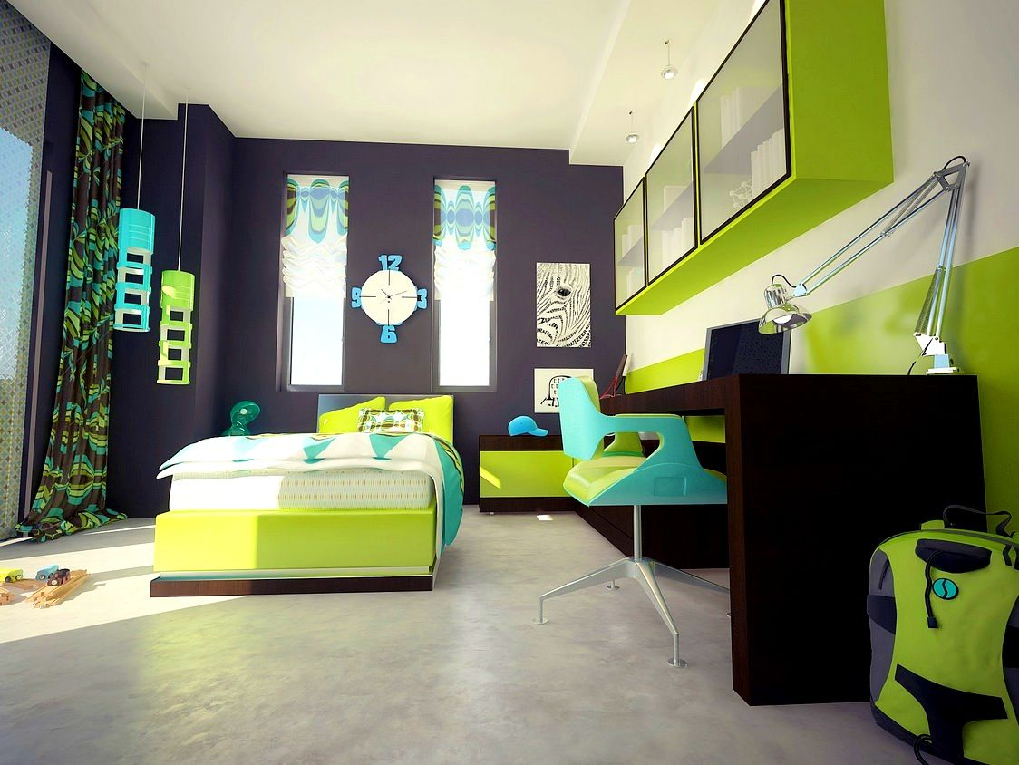 lime green accessories for bedroom