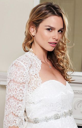 528a61429b8ae Ellen Lace Bolero (Ivory) by Tiffany Rose Maternity Occasion Wear, Maternity  Gowns,
