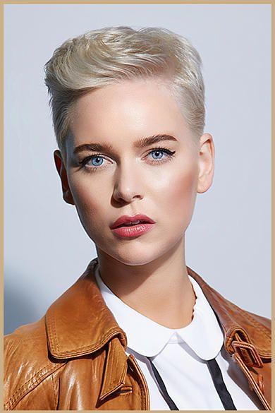 neue frisur frau blond moderne mà nnliche und weibliche