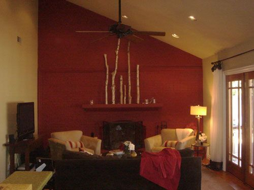 Cranberry Color With Brown Table Paint Colors For Living Room Living Room Color Schemes Living Room Paint