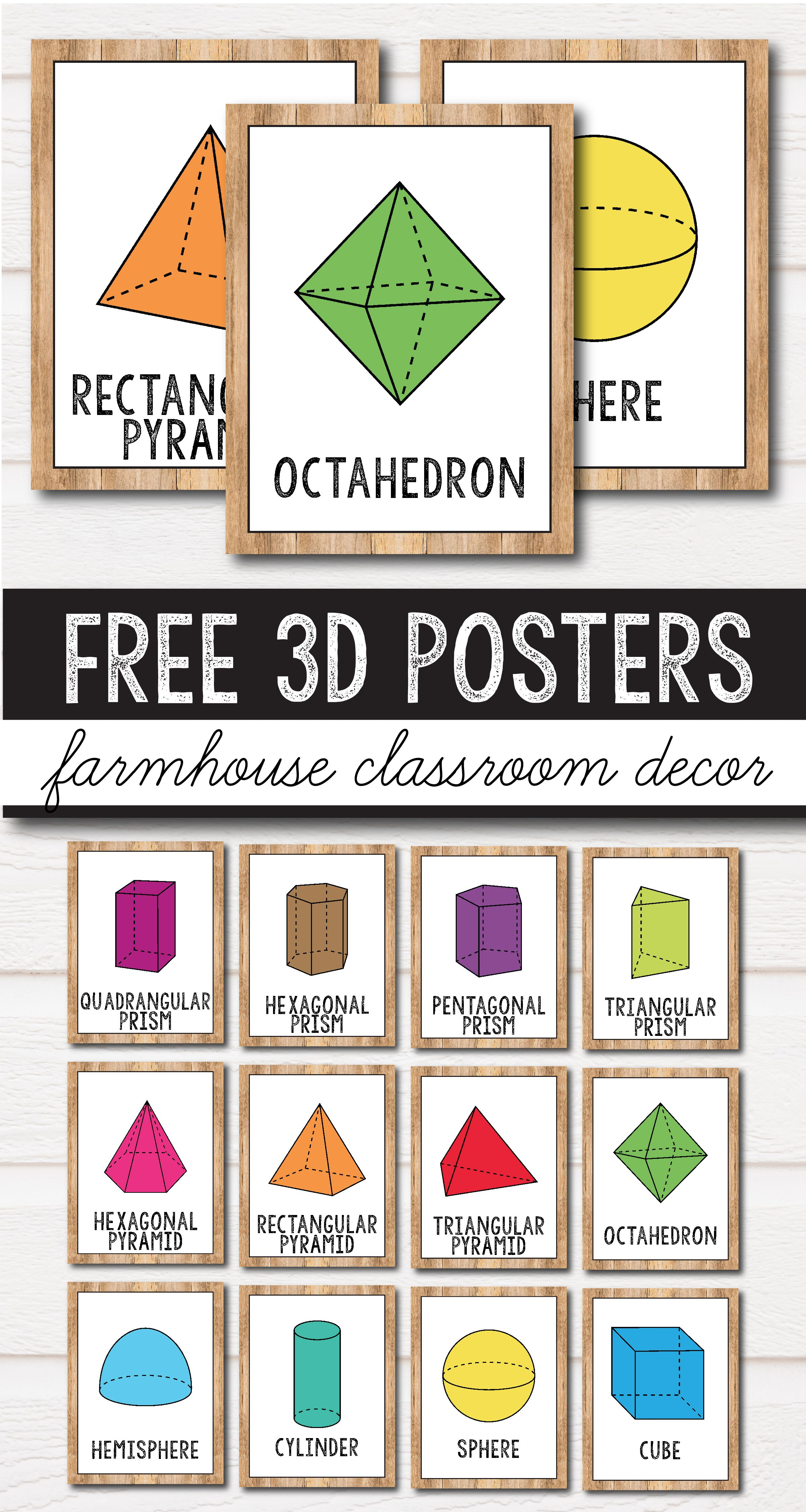 FREE 2D Shape Posters