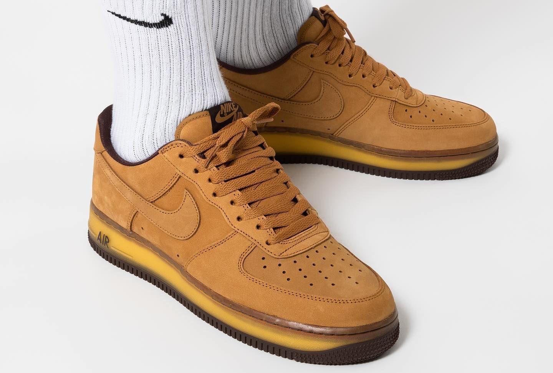 Nike Air Force 1 Low Wheat Mocha | Nike air force, Nike air, Nike
