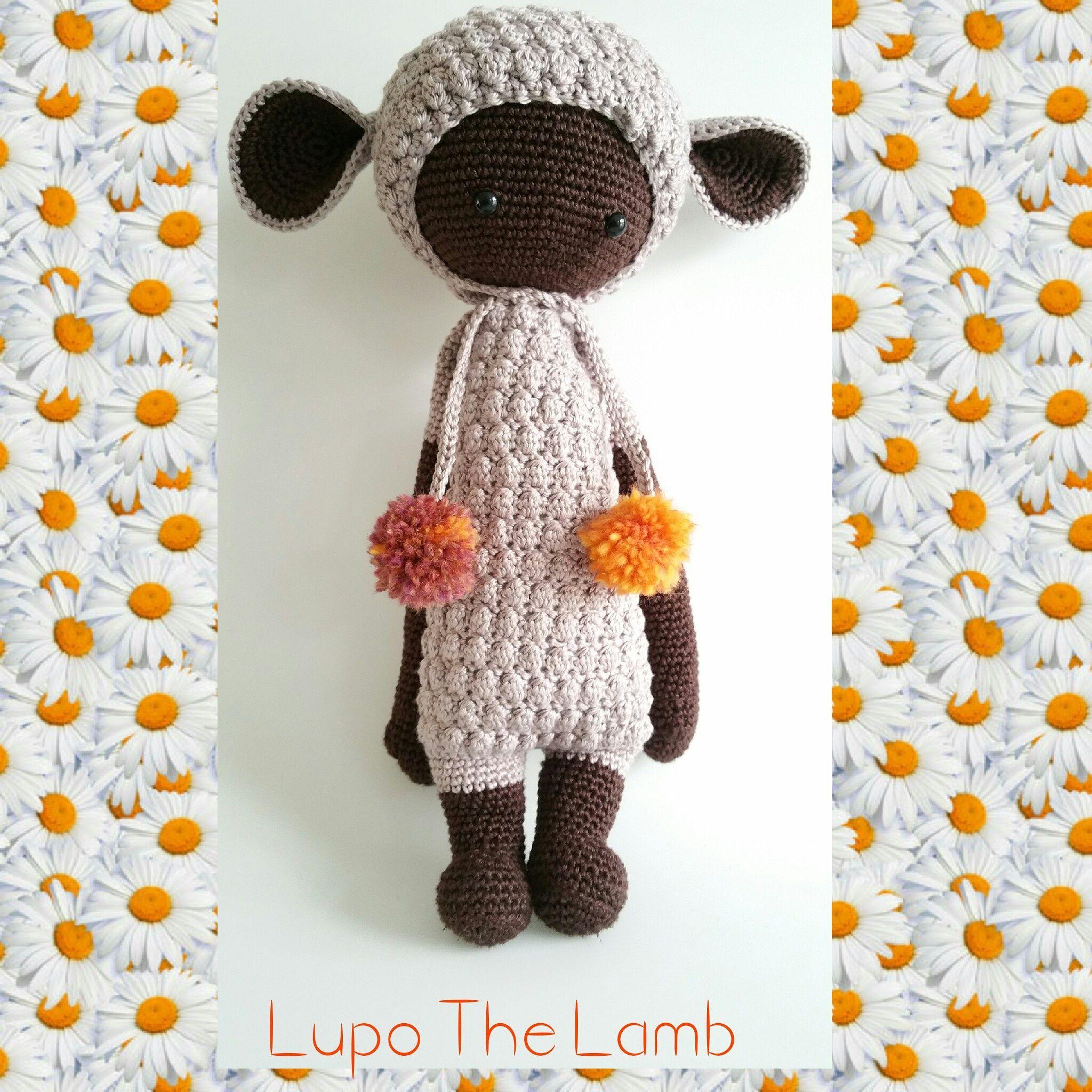 LUPO the lamb made by Ellen N. d. L. / crochet pattern  by lalylala