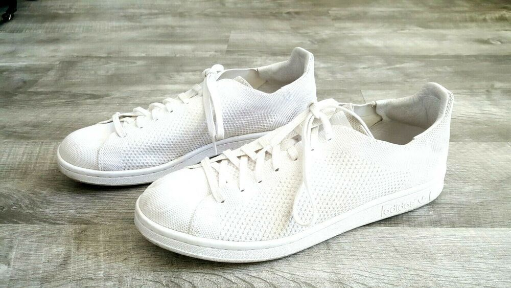 super popular 53094 fdb2b Adidas Stan Smith Tennis Shoes Size 11 White Breathable Mens ...