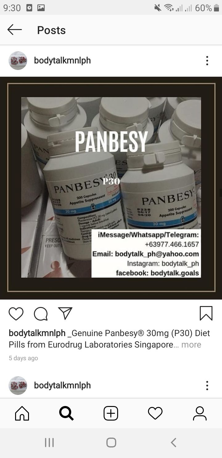 Pin On GENUINE PANBESY® 30MG (P30) DIET PILLS FOR SALE