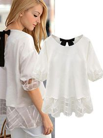 Plus Size Fake Two Pieces Patchwork Loose Summer Top img