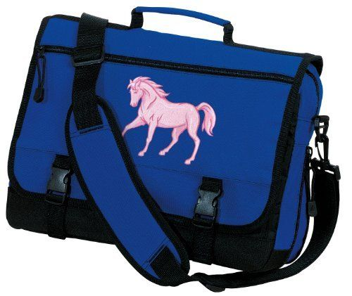 Cute Pink Horse Messenger Bag Horse Lover School Bags or Briefcase Travel  Bags - Best Unique GIFT IDEA for Men Ladies Him Her Students Alumni Women  or a ... 4edd65ffba623