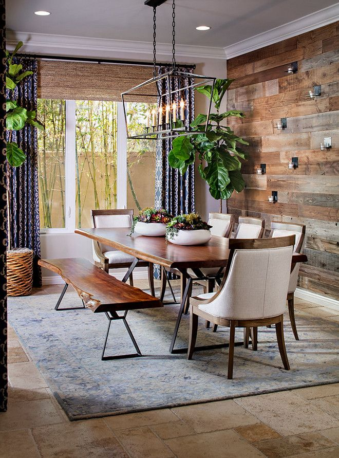 Love the rustic reclaimed wood wall juxtaposed with the ...