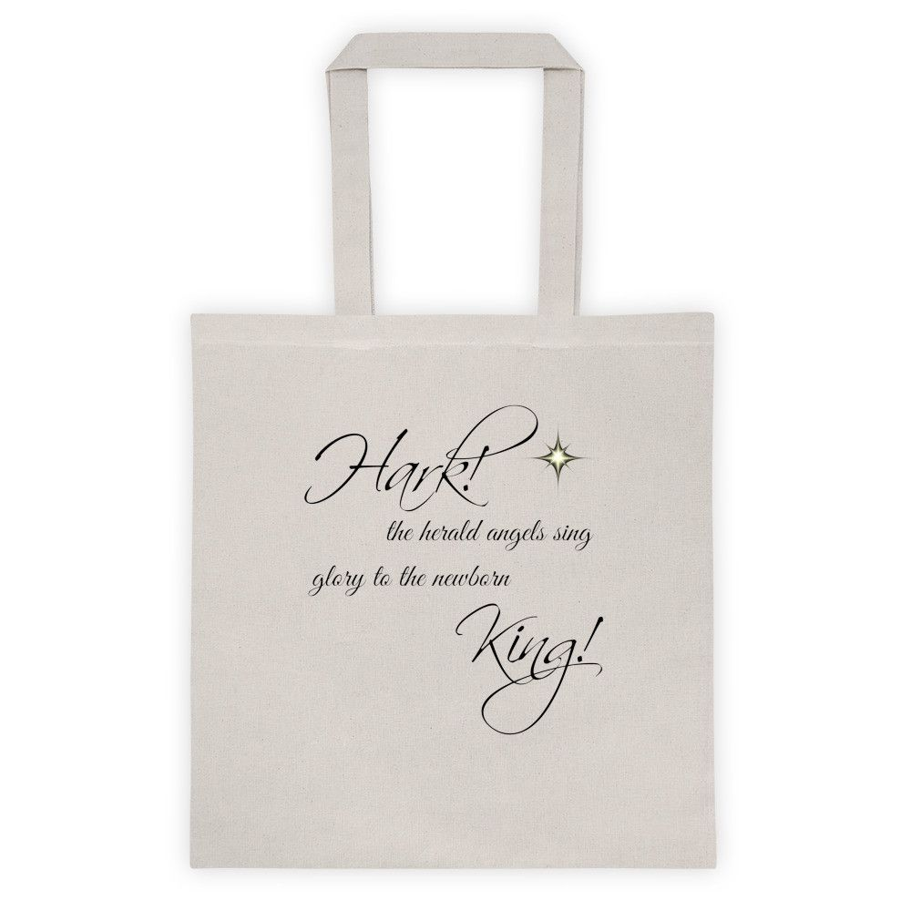 Hark the Herald Angels Sing Christian Christmas Tote bag
