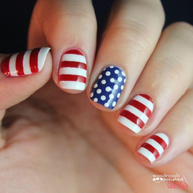 Mani Monday: Fourth of July Nails 4-ways | Mondays, Makeup and Hair ...
