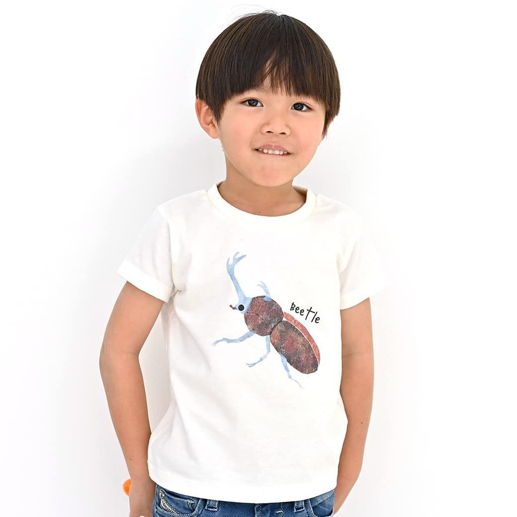 tシャツも羽化シーズン ここ一週間ほど かぶとむしくんプリントtシャツ が 妙に売れています 当ブランドは かまきりくん が1番人気なのですが かまきりくんよりも売れている日も さすが昆虫界の王 mens tshirts mens tops mens graphic