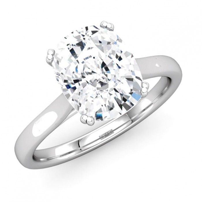 Classic Solitaire Cushion Diamond Engagement Ring Solitaire