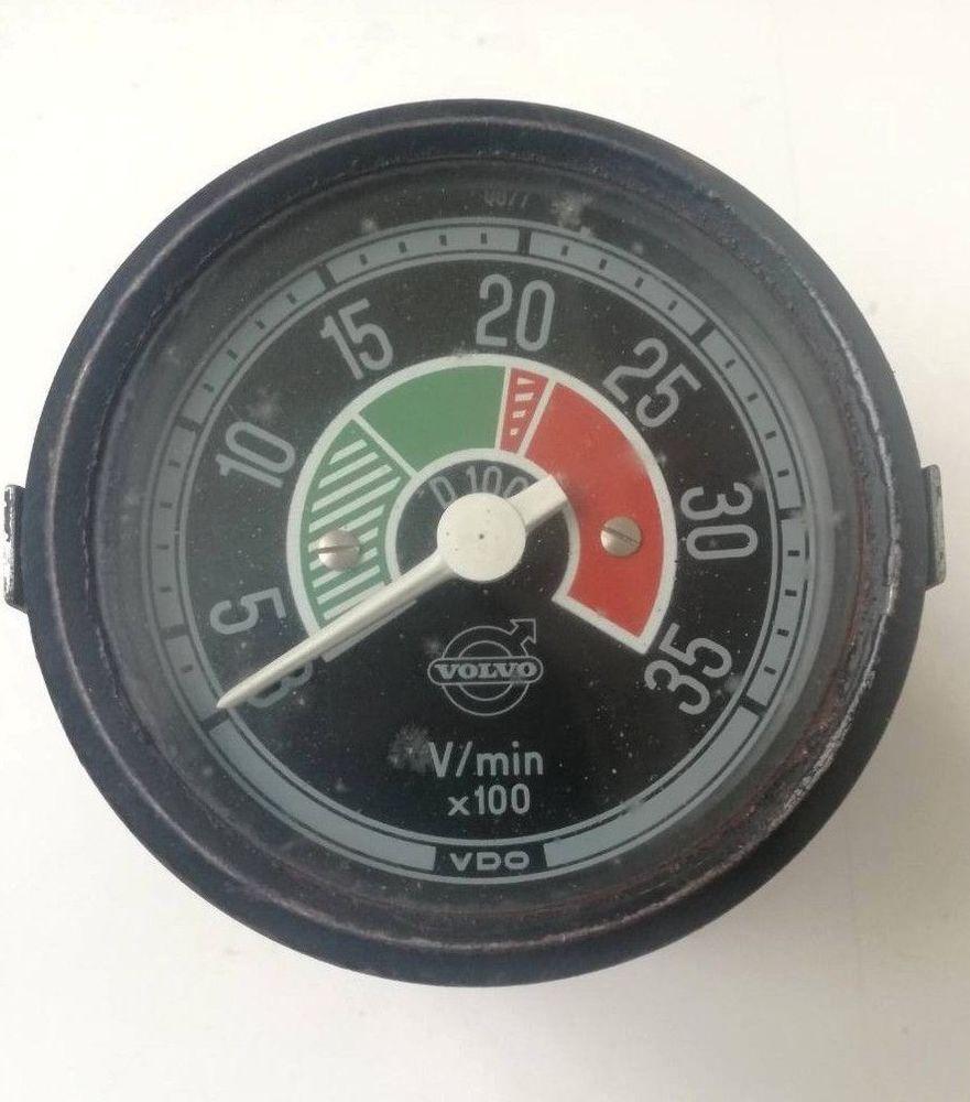Vintage Gauge Vdo Truck Volvo Heavy Duty F88 F89 Instrument Dial Rev Gauges Wiring Diagram Speedometer Meter
