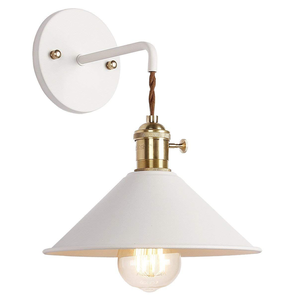Iyoee Wall Sconce Lamps Lighting Fixture With On Off Switch White