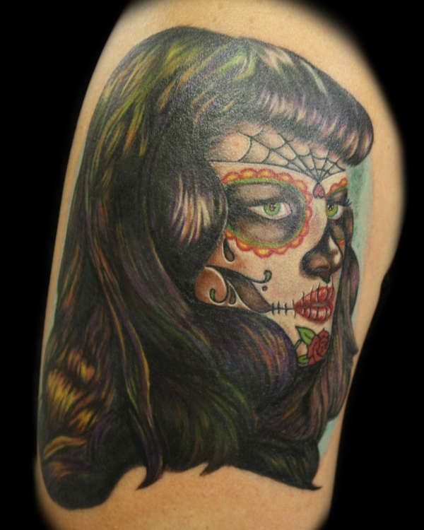Pin By Gagan Sampla On Page Tattoo: Bettie Page Hair & Dia De Los Muertos Face? Yay!