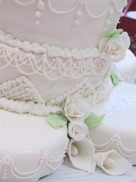 White Almond Wedding Cake.White Almond Sour Cream Wedding Cake