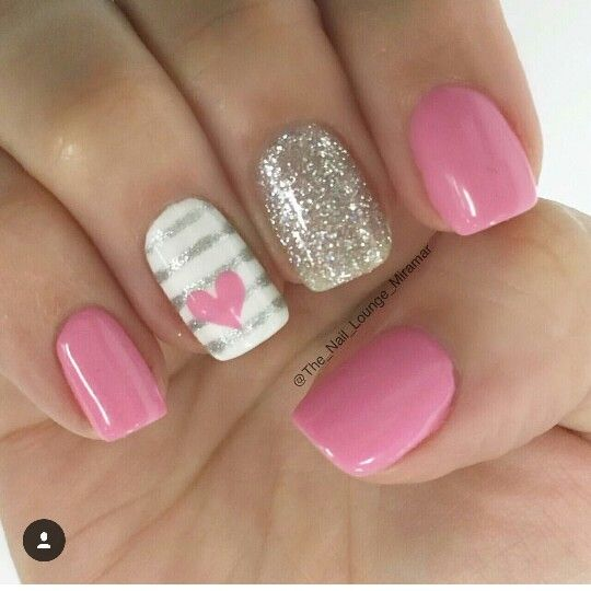 Pin by sasha gonzalez on make up pinterest makeup nail nail pink nails striped accent nail if you like this pin be sure to check out prinsesfo Images