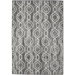 Photo of Chain – dark gray / beige carpet 160×230 rug Rugvista