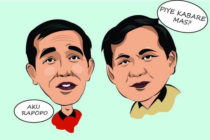 Jokowi Prabowo Karikatur Karikatur Poster Movie Posters Dan