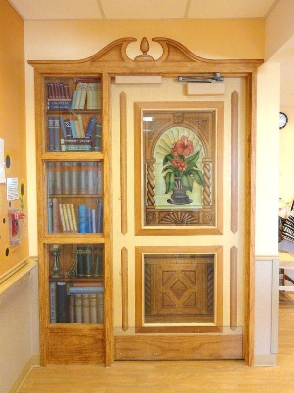 When is a door not a door answer when it is an exit for Nursing home door decorations