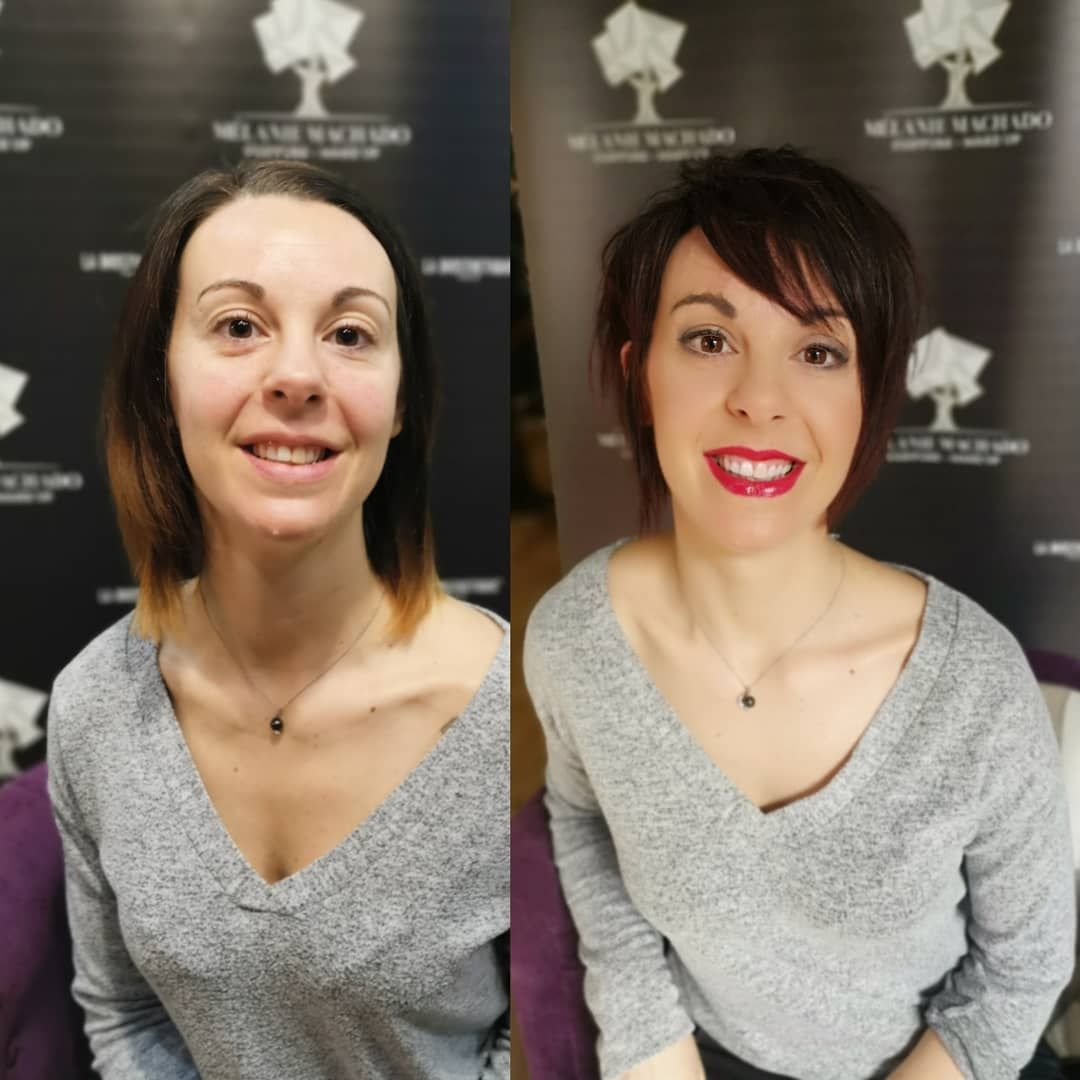 Melanie Machado Coiffure Make Up Coiffeur A Tarbes Coiffure Coupe Courte Idees Cheveux Longs