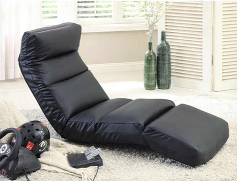 Gaming Chair Black Rocker Wireless Game Room Xbox Wii PS3 4
