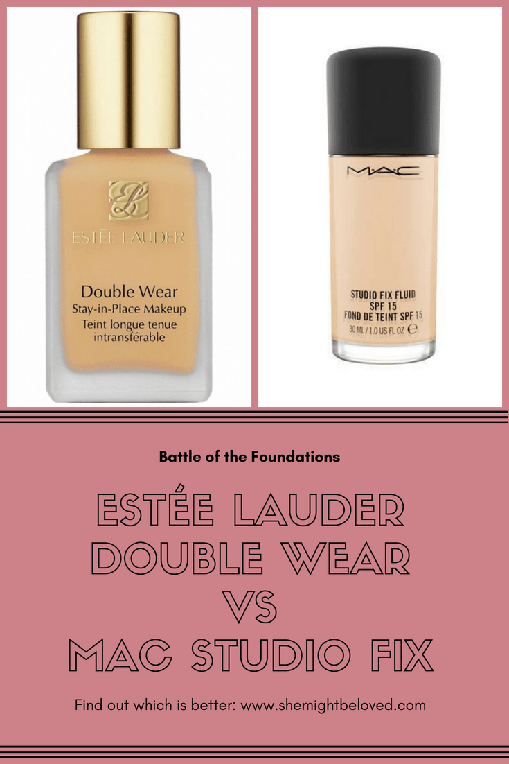 Estée Lauder Double Wear VS MAC Studio Fix Fond de teint