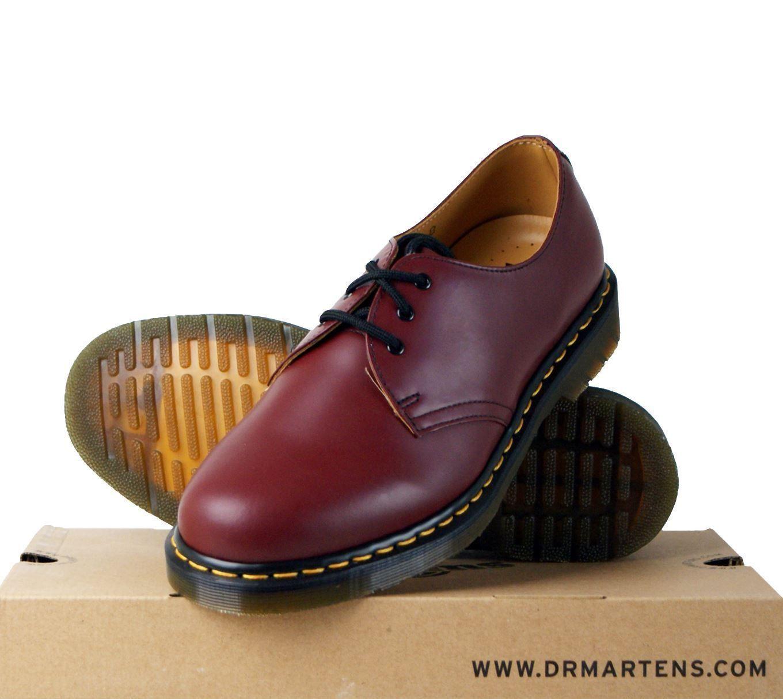 Populaire Dr Martens 1461Z Mens Shoes Textile Leather Yellow Stitch Lace Up  CI15