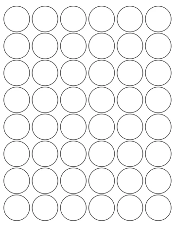 1 1 4 Diameter Round White Label Sheet Circle Labels Inkjet Labels Sheet Labels