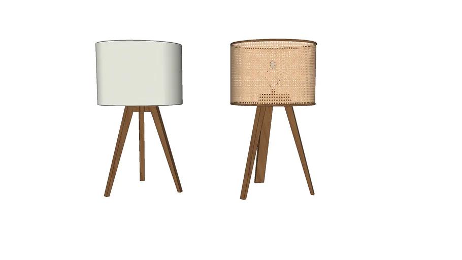Abajures madeira   3D Warehouse in 2020   Tripod lamp ...